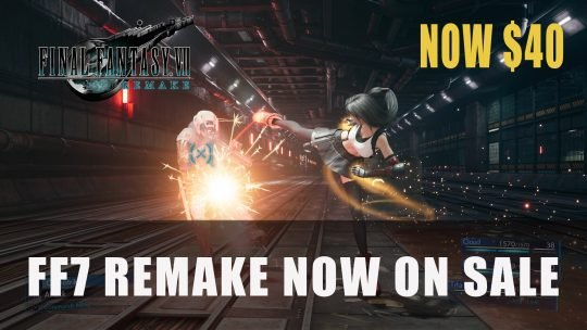 Final Fantasy 7 Remake on Sale Now for $40