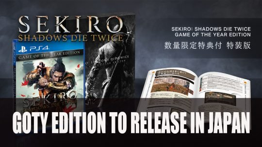 Sekiro Shadows Die Twice Receives Game of the Year Edition for PS4 in Japan