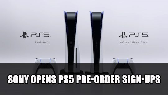 Sony Opens PS5 Pre-Order Sign-Ups to Limited Customers