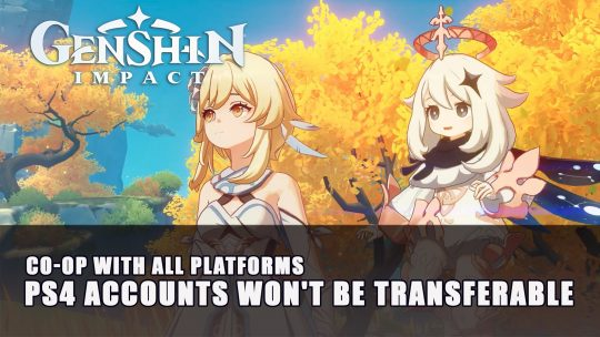 Genshin Impact PS4 Accounts Won't Be Transferable to PC or Mobile