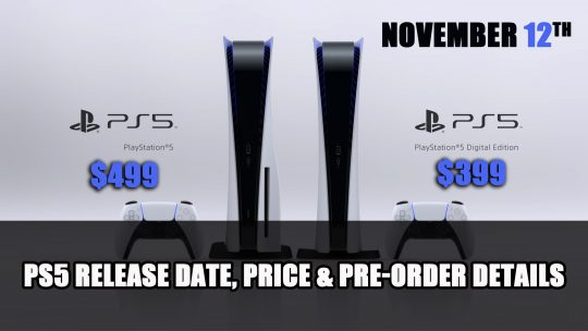 PS5 Release Date Announced: Price, Launch Date, Pre-Orders
