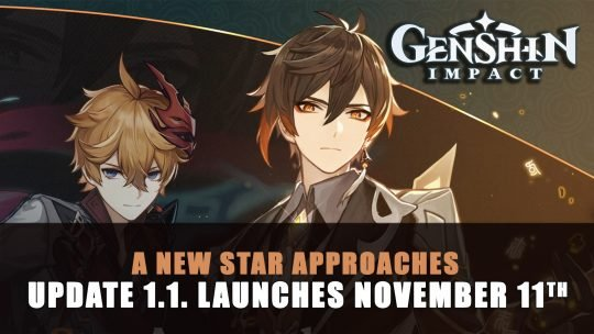 Genshin Impact Update 1.1. A New Star Approaches Launches November 11th