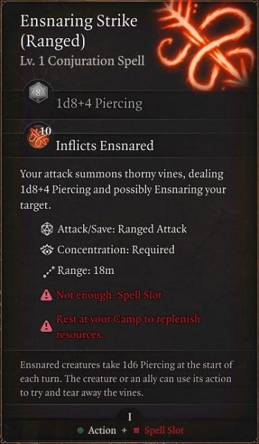 baldurs-gate-3-builds-ranger-hunter-class-guide-ensnaring-strike
