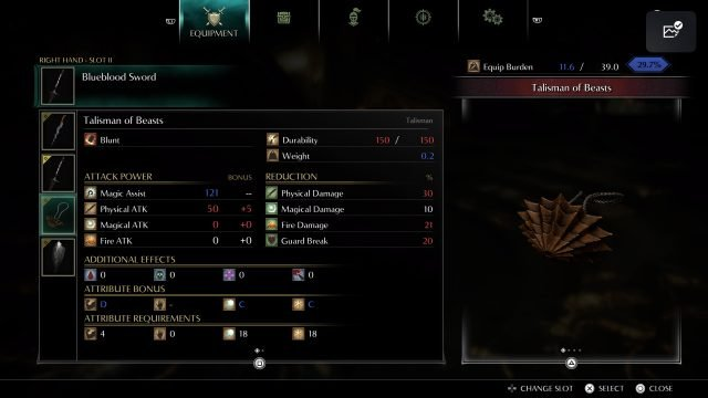 demons-souls-build-guide-blueblood-sword-talisman