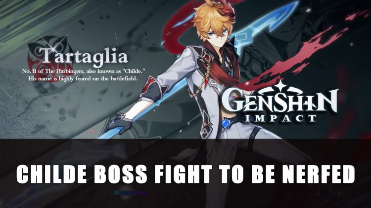 Genshin Impact to Nerf Boss Fight Against Childe in Story Version