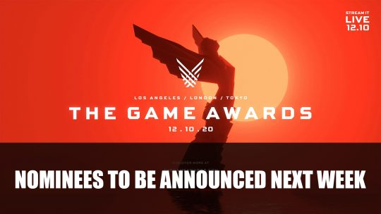 The Game Awards 2020 Nominees Will Be Revealed Next Week