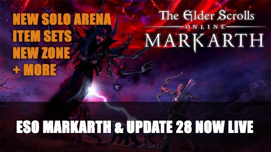 Elder Scrolls Online Markarth DLC & Update 28 Now Live on PC and Stadia; Consoles November 10th