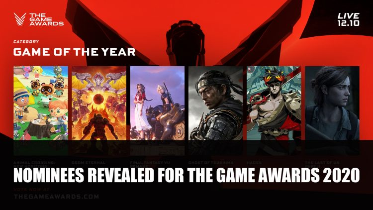 The Game Awards 2020 Nominees Revealed Includes FFVII Remake, Ghost of Tsushima and More