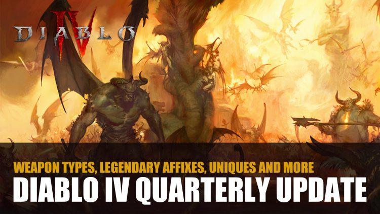 Diablo IV Developer Outlines Weapon Types, Legendary Affixes, Uniques and More