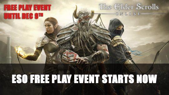 Elder Scrolls Online Free Play Event Starts Now Until December 9th