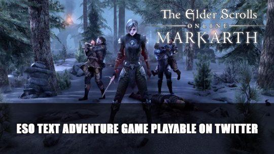 Elder Scrolls Online Text Adventure Game Playable on Twitter