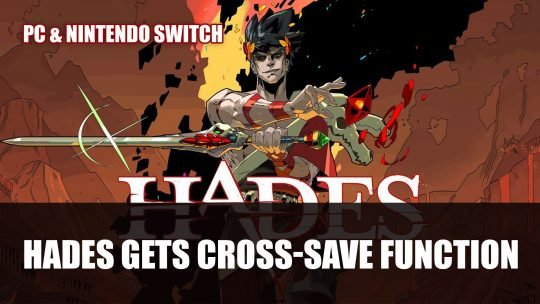 Hades Gets Cross-Save Function Between Switch and PC