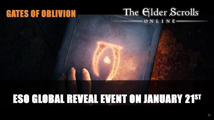 Elder Scrolls Online Global Reveal Event on January 21st