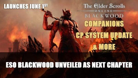 Elder Scrolls Online: Blackwood Unveiled as Next Chapter; Gates of Oblivion Year Long Adventure