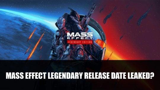 Leak: Mass Effect Legendary Edition Release in March