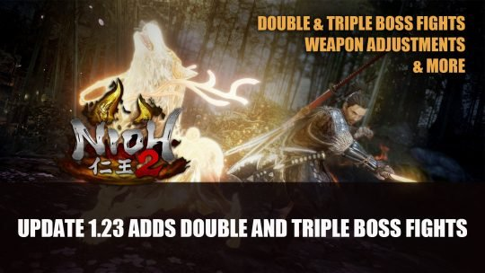 Nioh 2 Update 1.23 Adds Double and Triple Boss Fights to Depths of the Underworld