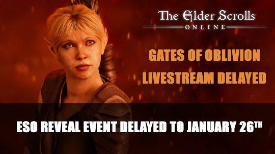 Elder Scrolls Online's Gates of Oblivion Reveal Delayed