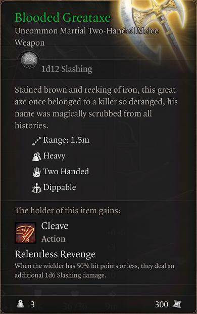 Blooded Greataxe
