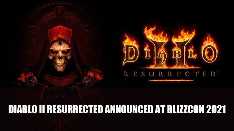 Diablo 2 Resurrected Announced at BlizzConline 2021