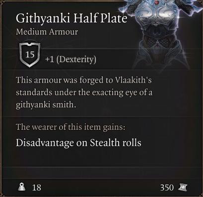Githyanki Half Plate