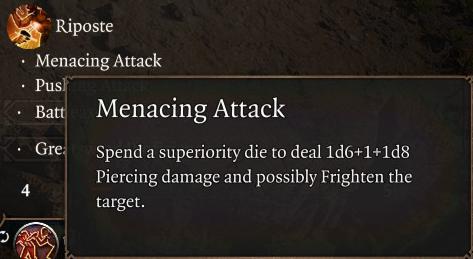 Menacing Attack Passive