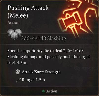 Pushing Attack (Melee)