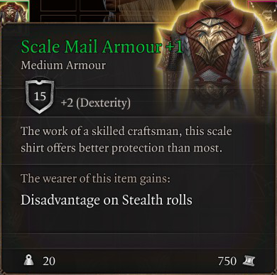 Scale Mail Armour +1