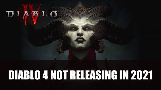 Blizzard Shares Diablo 4 Won't Be Releasing in 2021