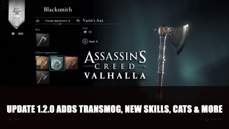 Assassin's Creed Valhalla Update Adds Transmog, More Cats, New Skills and More
