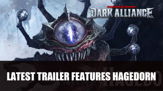 Dark Alliance Latest Trailer Features Hagedorn Boss Battle