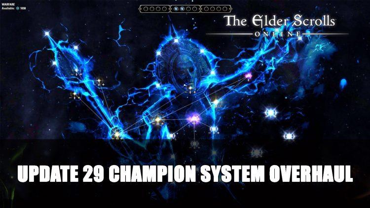 Elder Scrolls Online Update 29 Introduces Champion System Overhaul