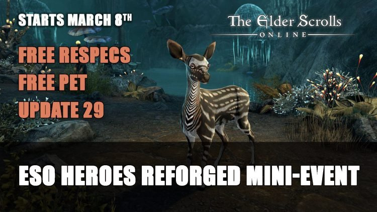 Elder Scrolls Online The Heroes Reforged Event – Free Pet & Repecs