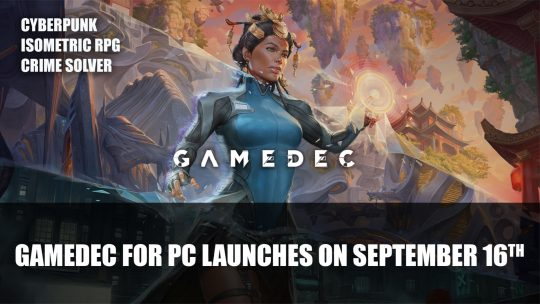 Gamedec for PC Launches on September 16th