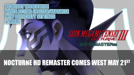 Shin Megami Tensei III Nocturne HD Remaster Comes West May 21st