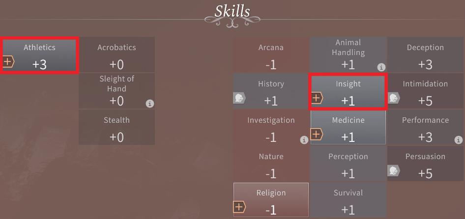 Solasta Human Paladin Skills