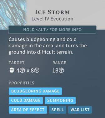 Solasta Ice Storm