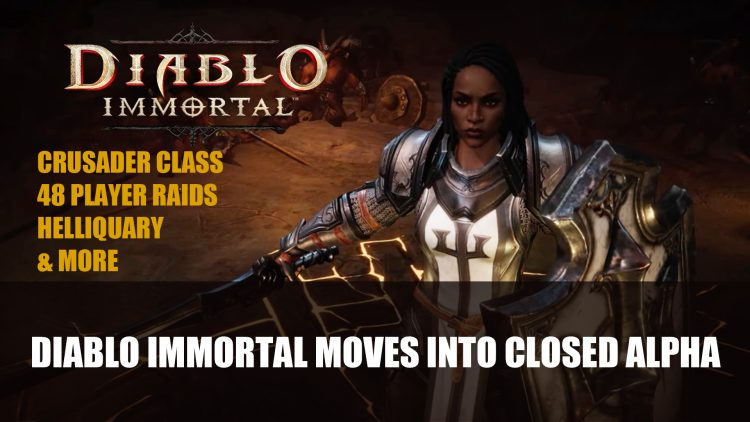 Diablo Immortal moves Into Closed Alpha Adding Crusader Class and 48-Player Raids