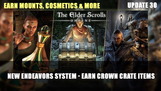 Elder Scrolls Online Will Introduce A New Way to Gain Crown Crate Items in Update 30