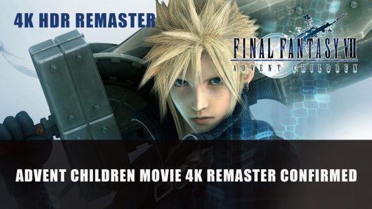 Final Fantasy VII: Advent Children 4K HDR Remaster Confirmed