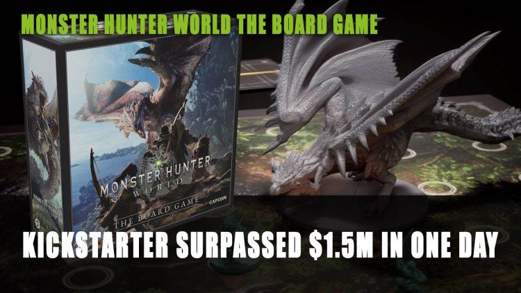 Monster Hunter World Board Game Kickstarter Surpassed $1.5 Million in One Day