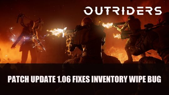 Outriders 1.06 Update Fixes Inventory Wipe Bug