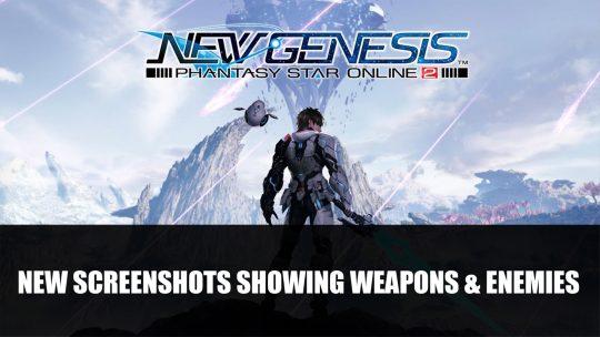 Phantasy Star Online 2: New Genesis New Screenshots Plus Art Showing Weapons & Enemies