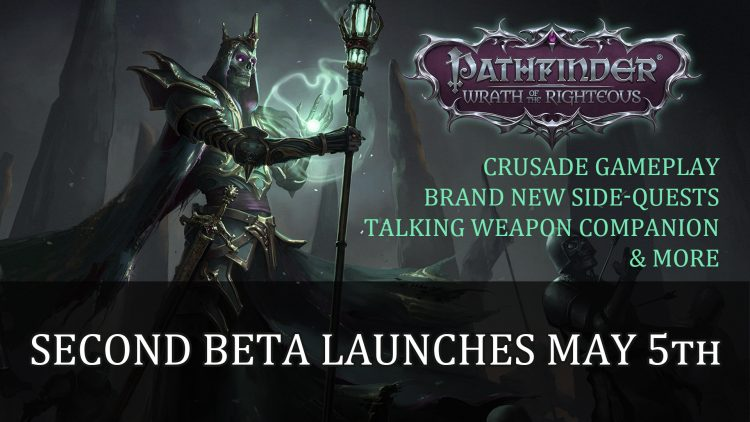 Pathfinder Wrath of the Righteous Second Beta Launches May 5th