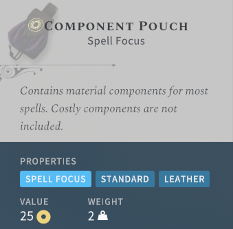 Solasta Component Pouch