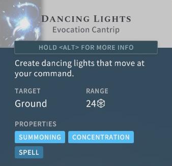 Solasta Dancing Lights