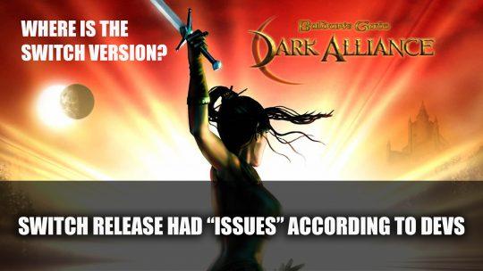 """Baldur's Gate: Dark Alliance Switch Release Had """"Issues"""" According to Developer"""