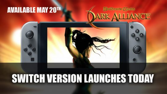 Baldur's Gate: Dark Alliance Launches on Nintendo Switch Today