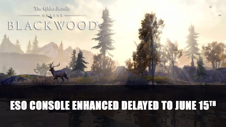 Elder Scrolls Online Console Enhanced Update Delayed to June 15th