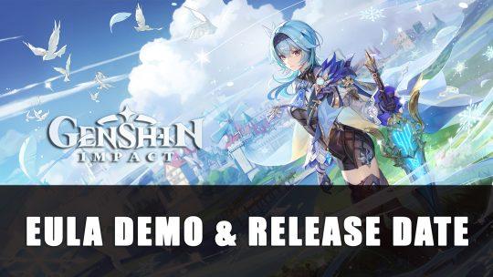 Genshin Impact Eula Demo & Release Date