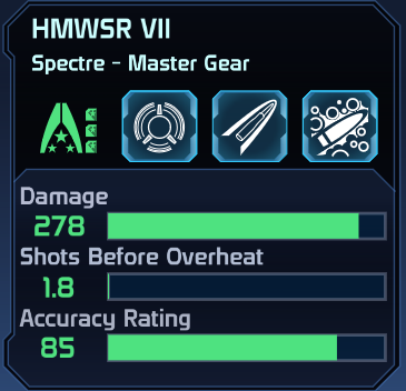 ME1 HMWSR VII Spectre Gear